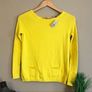 NWT Loft Canary yellow Sweater Top